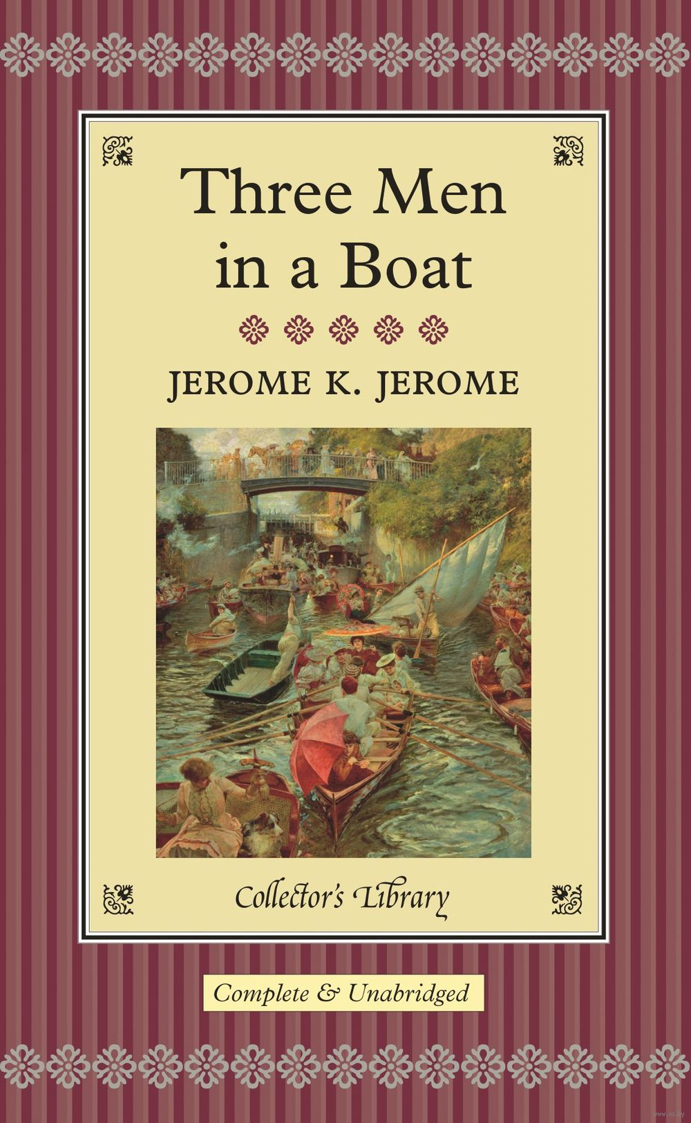 three men in a boat Three men in a boat (to say nothing of the dog), published in 1889, is a humorous account by english writer jerome k jerome of a two-week boating holiday on the thames from kingston upon thames to oxford and back to kingston.