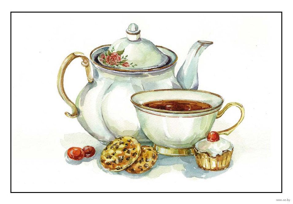Алмазная вышивка к чаю