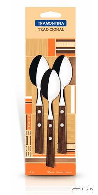 Набор ложек металлических чайных с деревянными ручками (3 шт, 13,5 см, арт. 22207300)