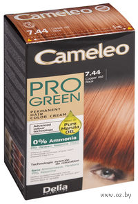 "Краска для волос без аммиака ""Cameleo Pro Green"" 7.44 (рыжий)"