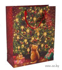 """Пакет бумажный подарочный """"Новогодний"""" (26х32х10 см; арт. 10444361)"""