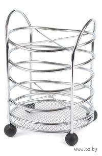 Подставка для столовых приборов металлическая (135х135х190 мм)
