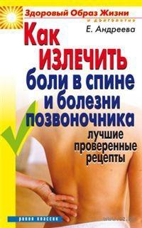 Как излечить боли в спине и болезни позвоночника. Лучшие проверенные рецепты. Е. Андреева