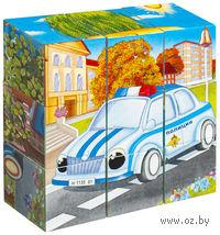 """Кубики с картинками """"Машинки"""" (9 шт.)"""