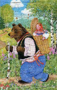 """Пазл-рамка """"Машенька и медведь"""" (24 элемента)"""