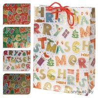 """Пакет бумажный подарочный """"Merry Christmas"""" (16х18х6 см; арт. ABD600300)"""
