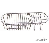 Подставка-полка для ванной металлическая настенная (35х10 см)