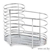 Подставка для столовых приборов металлическая (15,4х8,7х13,6 см)