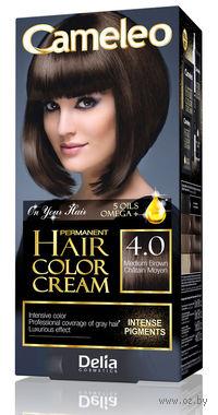 """Крем-краска для волос с маслом арганы """"Cameleo"""" 4.0 (средний коричневый)"""