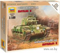 Британский средний танк Матильда II (масштаб: 1/100)