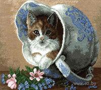 """Вышивка крестом """"Кот в кувшине"""""""