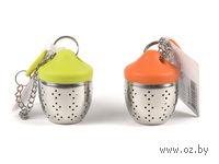 Ситечко для заварки чая металл/силикон (6*4*4 см, арт. KC-700)