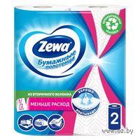 """Бумажные полотенца ZEWA """"Декор""""(цвет: бело-розовый; 2 рулона)"""