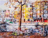 """Картина по номерам """"Осенний Амстердам"""" (400х500 мм)"""