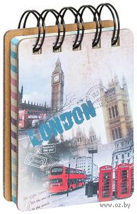 """Блокнот на спирали """"London"""" (А7; ассорти)"""