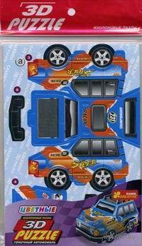 """3D-пазлы на изолоне """"Гоночный автомобиль. Синий"""" (12 элементов)"""