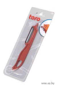 Скребок для очистки овощей пластмассовый с металлическим лезвием TORO (14,5 см)