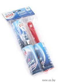 Ролик для чистки одежды бумажный с пластмассовой ручкой (20*4*10 см) + 2 съемные насадки (4*10 см, арт. 8870026)