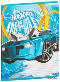 """Тетрадь в линейку """"Hot Wheels"""" 12 листов"""