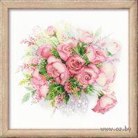 """Вышивка крестом """"Акварельные розы"""" (арт. 1335)"""