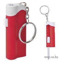Брелок-ручка с фонариком (красно-белая)