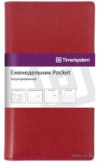 """Еженедельник Time-system """"Memory"""" недатированный (Pocket; red)"""