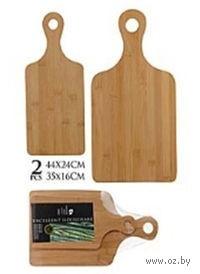 Набор досок разделочных деревянных (бабмук, 2 шт, 44*24/35*16 см)