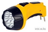 Аккумуляторный светодиодный фонарь 7 LED с прямой зарядкой Smartbuy (желтый)