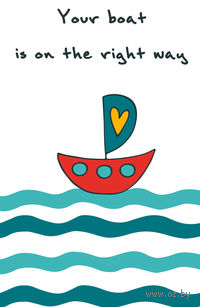 "Блокнот для записей ""Your boat is on the right way"" А5"