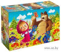 """Кубики """"Маша и Медведь"""" (6 штук)"""