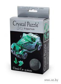 """Пазл-головоломка """"Crystal Puzzle. Автомобиль зеленый"""" (53 элемента)"""