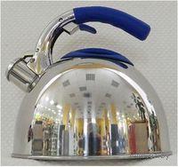Чайник металлический со свистком и пластмассовой ручкой (2,7 л, арт. GS-0431AHY-Blue)