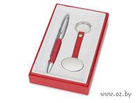Набор. Ручка, брелок (красный)