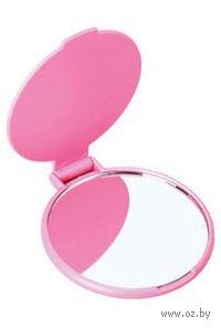 Зеркало карманное (розовое)