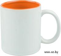 Кружка (320 мл, цвет: белый, оранжевый)