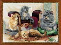 """Вышивка крестом """"Кошачье семейство"""" (арт. 1327)"""