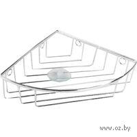 Полка для ванной угловая металлическая (22х22х6,5 см)