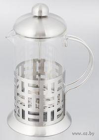 Кофейник с прессом, стекло/металл, 350 мл (арт. YM-014/350)