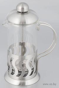 Кофейник с прессом, стекло/металл, 350 мл (арт. YM-028/350)