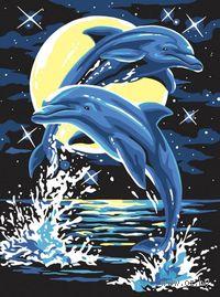 """Картина по номерам """"Дельфины"""" (400х300 мм)"""