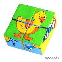 """Кубики мягкие """"Птицы"""" (4 шт)"""