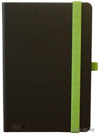 Блокнот Tucson LANYBOOK А5 (черный/зеленый; 140x205; прямоугольный)