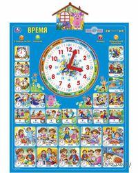 """Интерактивный плакат """"Учим время и распорядок дня с Лунтиком"""""""
