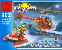 """Конструктор """"Пожарные вертолет и лодка"""" (111 деталей)"""