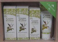 """Подарочный набор Baume d`olive """"Оливковый"""" (крем дневной и ночной + крем вокруг глаз + крем для рук и ногтей)"""