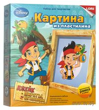 """Картина из пластилина """"Disney. Джейк и пираты Нетландии"""""""