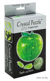 "Пазл-головоломка ""Crystal Puzzle. Зеленое яблоко"" (44 элемента)"