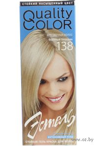 """Гель-краска """"Эстель Quality Color"""" (бежевый блондин, 138)"""