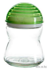 Банка для специй стеклянная с пластмассовой крышкой (200 мл; арт. 131540)