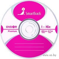 DVD-R 4.7Gb 16x SmartTrack CakeBox 10